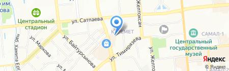 Гакку на карте Алматы