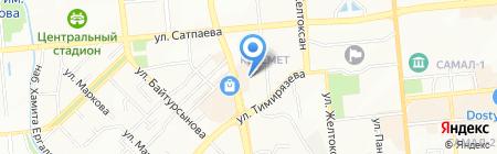 Участковый пункт полиции №4 Бостандыкского района на карте Алматы
