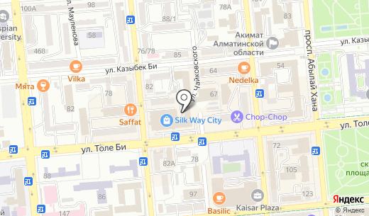 Das erste Haus. Схема проезда в Алматы