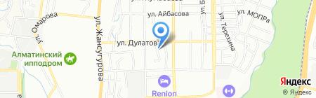 Бижан на карте Алматы