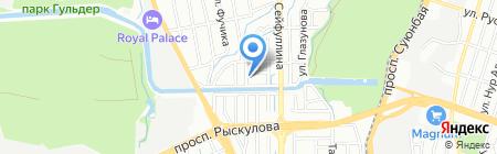 Лицей №107 на карте Алматы