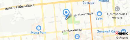 Айктур на карте Алматы