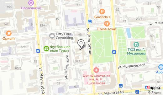 АСГ Сервис. Схема проезда в Алматы