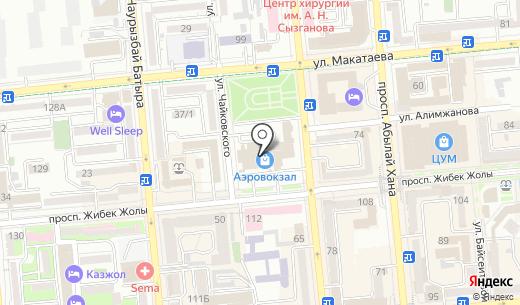 АСТАЛ. Схема проезда в Алматы