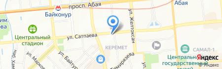 Меридиан на карте Алматы