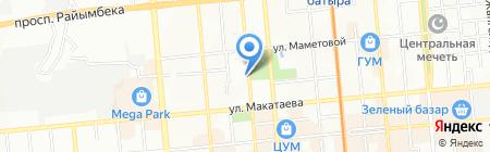 Профстройпроект на карте Алматы