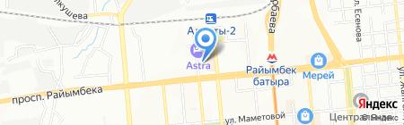 Бак-Жай на карте Алматы