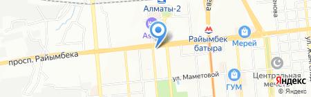 Белый кот на карте Алматы