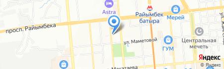 АДМ на карте Алматы