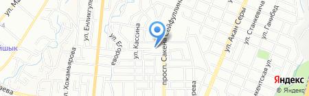 Наша карта на карте Алматы