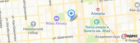 Шагала на карте Алматы
