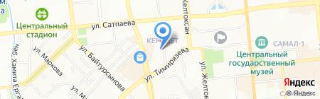Санти на карте Алматы