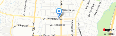 Рано на карте Алматы