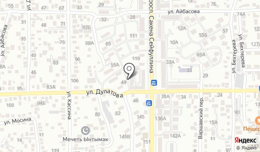 Лакомка. Схема проезда в Алматы
