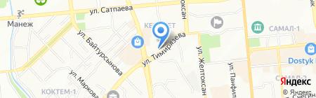 Век Олимп на карте Алматы
