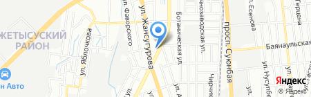 Нотариус Шингисбаева Г.К. на карте Алматы
