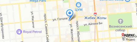 Дари цветы на карте Алматы