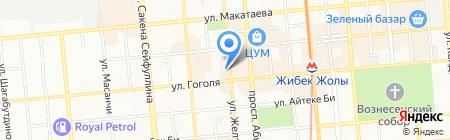 Мастерская по ремонту часов на ул. Желтоксан на карте Алматы