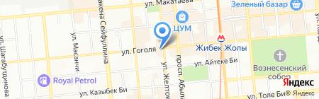 Алтынай на карте Алматы