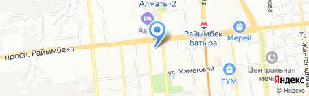 Тахар на карте Алматы