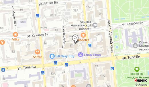 Астана-Курылыс ТОО. Схема проезда в Алматы