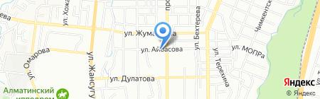 Мастерская по ремонту обуви на ул. Айбасова на карте Алматы