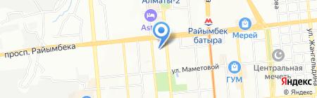Амир на карте Алматы