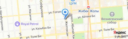 Студия перманентного макияжа Ирины Досумбековой на карте Алматы