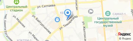 Нотариус Кожагельдиева С.Т. на карте Алматы