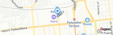 Касиет на карте Алматы