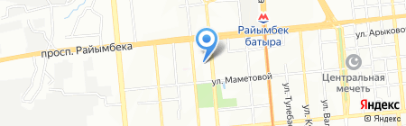 Премьер на карте Алматы