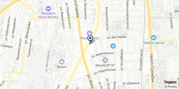 Alfaopt.kz, ТОО на карте Алматы
