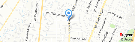 Белая ночь на карте Алматы