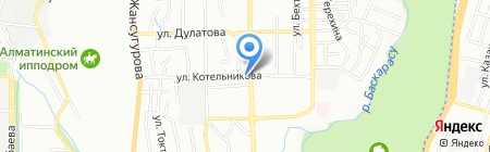 Ауес на карте Алматы