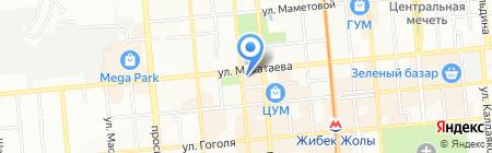 Квартирное бюро на карте Алматы