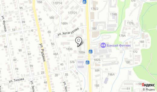 Тушпара. Схема проезда в Алматы