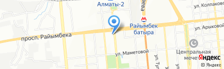 Никан на карте Алматы