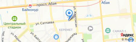Коксай-Музбель на карте Алматы