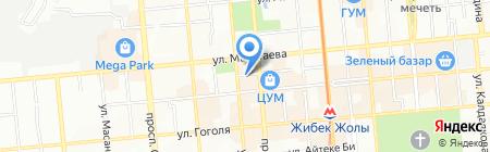 Нотариус Егемберди З.Т. на карте Алматы