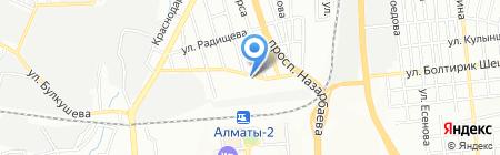 Амаль на карте Алматы