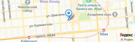 Рият на карте Алматы