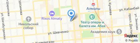 Нотариус Есдавлетова Е.Н. на карте Алматы