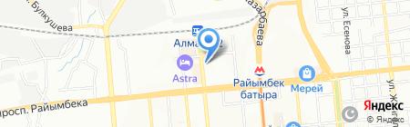 Тесса на карте Алматы