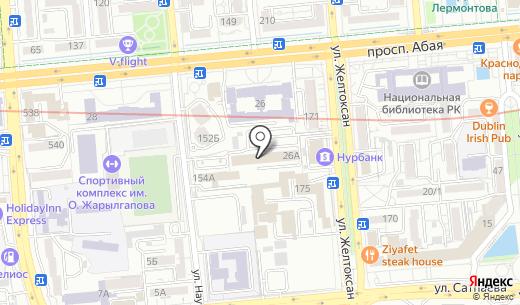 Al Bayan Travel. Схема проезда в Алматы