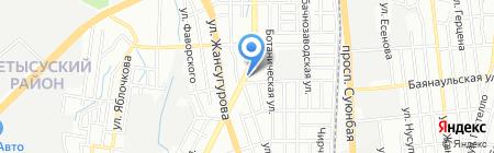 Почтовое отделение связи №50 на карте Алматы