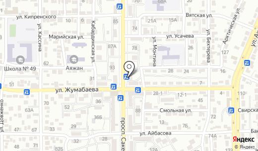 Халида. Схема проезда в Алматы