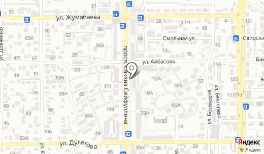 Секонд-хенд. Схема проезда в Алматы
