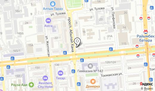 Bellezza. Схема проезда в Алматы