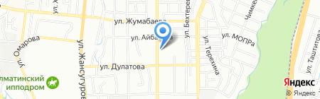 Нотариус Кыдырбаева Н.И. на карте Алматы