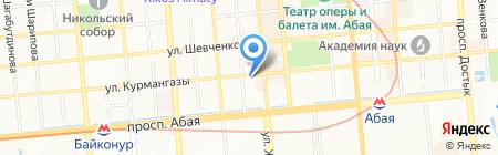 Emerald на карте Алматы